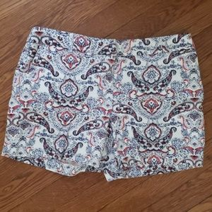 Red,white and blue shorts